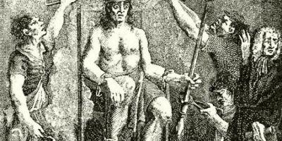 FOTO Groaznica executie a secuiului Gheorghe Doja la Timisoara. A fost devorat de soldatii sai in timp ce era incoronat pe un