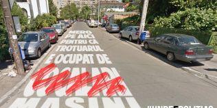 Pe cand o campanie de eliberare a trotuarelor derulata de politie si cele 7 primarii din Capitala?