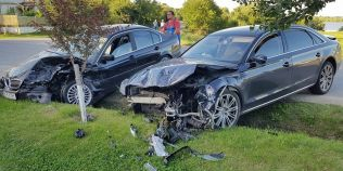 Accident teribil pentru cantareata Cristina Spatar. Bolidul ei, facut praf