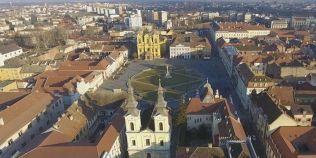 VIDEO Imagini spectaculoase surprinse cu drona in Piata Unirii din Timisoara