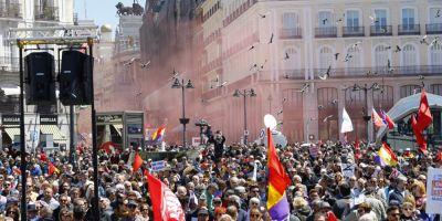 Manifestatii de amploare la Madrid impotriva coruptiei