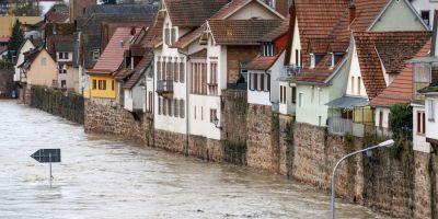 Inundatii si alunecari de teren in sudul Germaniei